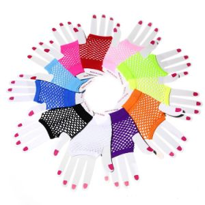 Mesh Gloves Fun Punk Multicolor Nightclub Sexy Gloves Short Style (GL002) pictures & photos
