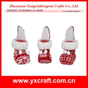 Christmas Decoration (ZY16Y018-1-2-3 14cm) Red Pattern Christmas pictures & photos
