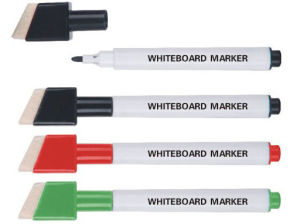 Plastic Whiteboard Marker with Brush pictures & photos