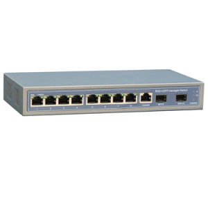 Desktop 8 Port Ethernet Switch 10/100/1000Mbps with 2 SFP Uplink pictures & photos