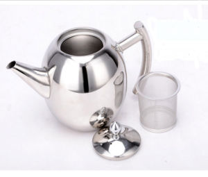 1500ml Stainless Steel Olive Teapot Coffeepot (CS-025) pictures & photos