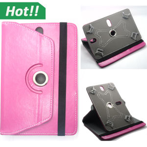 360 Rotating Universal Leather Stand Cover Hook Design Tablet Case for 7 8 9 10inch Tablet