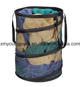 Fashion Pop-up Mesh Laundry Bag Laundry Hamper pictures & photos