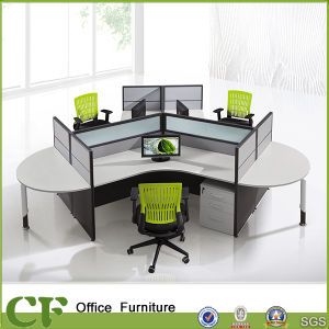 Modular Simple Office Half-Round Table Desig 3 Seater Workstation Computer pictures & photos