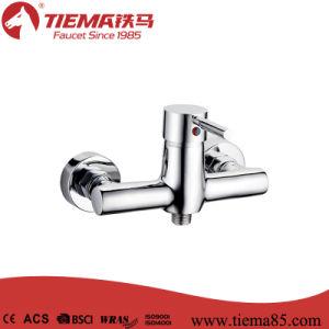 New Design Brass Body Chrome Bathroom Show Mixer (ZS62402)