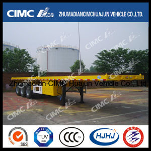 40FT 3axle Flatbed Semi Trailer (carry 1*40′, 2*20′ & 1*20′ container) pictures & photos