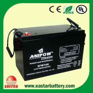 ISO Approval 12V 100ah Deep Cycle Solar Lead Acid Battery pictures & photos