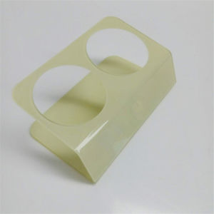 OEM Available Yellow Acrylic Bottle Wine Display Holder 2 Bottles pictures & photos