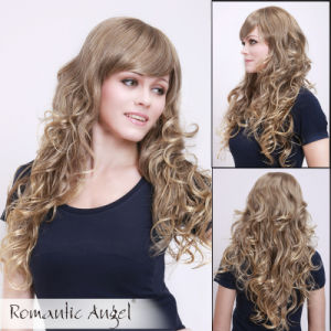 Good Quality Brown Long Fashion Wigs pictures & photos