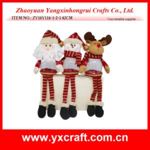 Christmas Decoration (ZY15Y149-1-2) Christmas Wholesale Gift Fabric Storage Basket pictures & photos