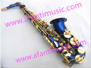 Blue Body Alto Saxophone (AAS001BL) pictures & photos