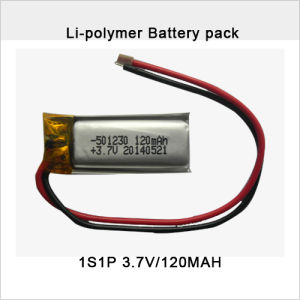 Rechargeable 3.7V 120mAh Li-Polymer Battery Pack pictures & photos