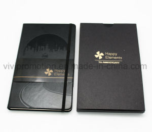 PU Leather Moleskine Diary Notebook with Debossed Logo (PUN403) pictures & photos