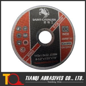 "4 1/2"" Thin Cutting Disc for Stainless Steel with En12413 and ISO9001 Certificate pictures & photos"