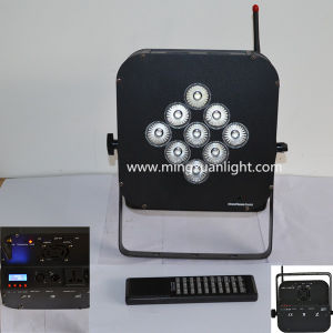 9*12W 5in1 RGBWA Battery Wireless PAR Can Lights (YS-124) pictures & photos