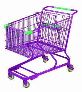 Shopping Trolley Manufacture Metal and Zinc/Galvanized/ Chrome Surface 9252 pictures & photos