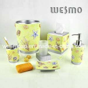 Seashell Polyresin Bathroom Accessories Set (WBP0238A) pictures & photos