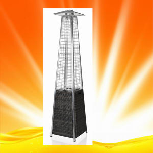 H1505 Quartz Glass Tube Pyramid Patio Heater with Wicker Base pictures & photos