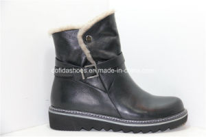 Casual Wedges Women Leather Warm Boots for Fashion Lady pictures & photos