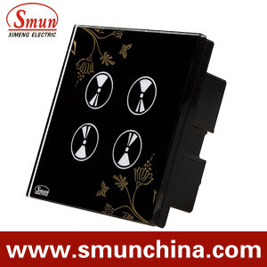 4 Key Black Flower Touch and Remote Control Switch pictures & photos