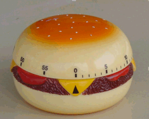 Hamberger Shape Mechanic Timer Plastic Material pictures & photos