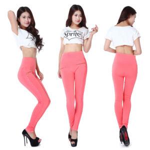 Solid Color Basic Seamless Full Length Spandex Tight Leggings