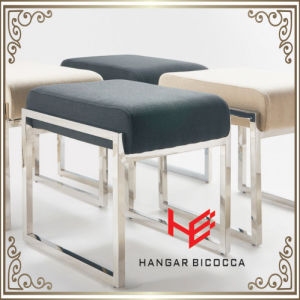 Hotel Stool (RS161801) Stool Bar Stool Cushion Outdoor Furniture Store Stool Shop Stool Living Room Stool Restaurant Furniture Stainless Steel Furniture pictures & photos