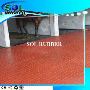 High Density Heavy Duty Horse Floor Rubber Tile (1mx1m) pictures & photos
