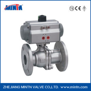 High Quality Stainless Steel Flange Pneumatic Actuator Ball Valve with Air Water Gas