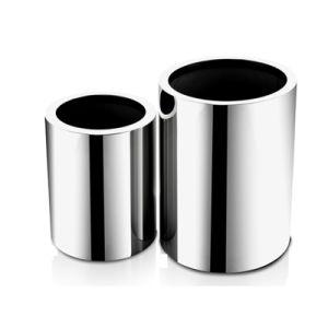 Cylinder Metal Planter Stainless Steel Flower Plant Garden Flower Pot