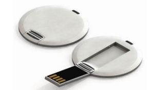 Circle Card USB Flash Drive for Promotional Gifts 1GB (TF-0075) pictures & photos