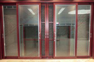 Economy Powder Coating Aluminum Sliding Door (BHA-DS01) pictures & photos