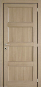 Tradtional Design Shaker Style Composite MDF Panels Internal Doors pictures & photos
