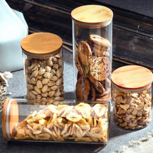 400ml Bamboo Lid Borosilicate Glass Food Storage Jar pictures & photos