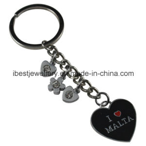 Promotional Gift -Metal Enamel Key Chains Rings Souvenirs with Malta Logo