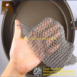 Chain Mail Pot Scrubber Cast Iron Chain Cleaner pictures & photos