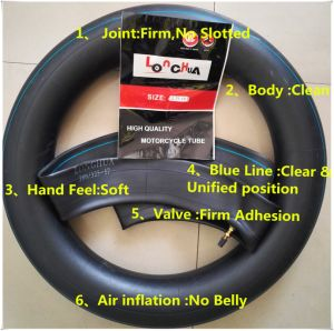 Natural Butyl Rubber Motorcycle Bicycle Inner Tube (90/90-18) pictures & photos