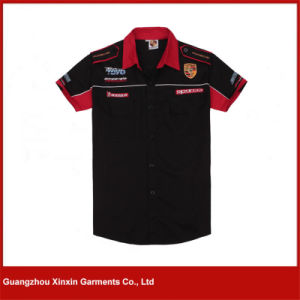 Guangzhou Custom Made Cotton Men Sport Racing Shirts Supplier (S62) pictures & photos