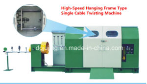 High-Speed Hanging Frame Type Single Cable Twisting Machine with Taping pictures & photos
