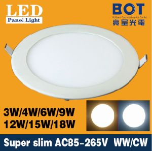 Ultra Thin LED Down Light Lamp 4W 6W 8W10W 12W 15W 18W LED Ceiling Recessed Grid Downlight Slim Round LED Panel Light