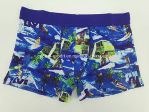 Various Color Cotton All Over Print Men′s Boxer Brief Men Underwear pictures & photos