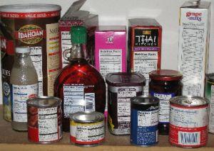 Food Labels with Varioius Materils