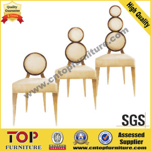 Luxury Round Back stainless steel Hotel Dining Chair pictures & photos
