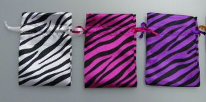 Zebra Satin Pouch pictures & photos