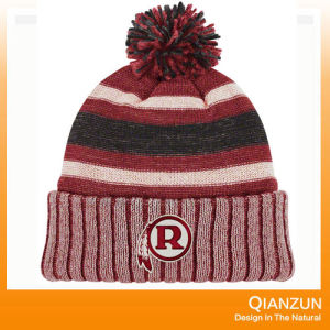 Jacquard and Embriodery Knitted Cap with Your Logo pictures & photos