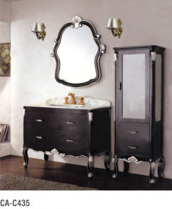 Classic Soild Wood Washroom Furniture Cabinet with Basin Ca-C435 pictures & photos