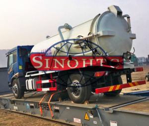 10 Tons sewage suction tanker truck, 4X2 sewage suction tank truck pictures & photos