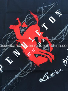 China Factory Produce Customized Design Print Cotton Black Headwear Scarf pictures & photos