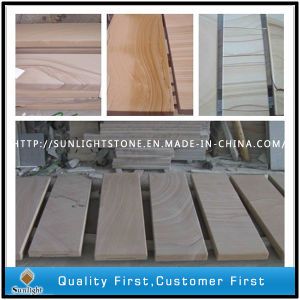 Honed Surface Light Grey Sandstone for Paving Tiles pictures & photos