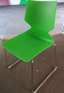 High Quality Stainless Steel Stacking Plastic Dining Chair pictures & photos